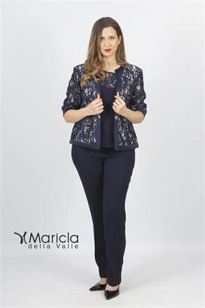 c/giacca ricamo+pant Maricla elegance | 42 | ALE8063BLU