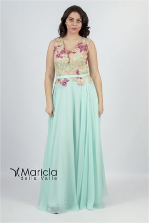 lungo corpetto c/ricamo ANTILLE elegance | 11 | ANT19012DXACQUA MARINA