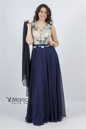 lungo corpetto c/ricamo ANTILLE elegance | 11 | ANT19012DXBLU