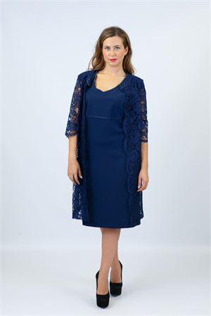 tubino c/spolv.pizzo Maricla elegance | 42 | ALE12118BLUETTE