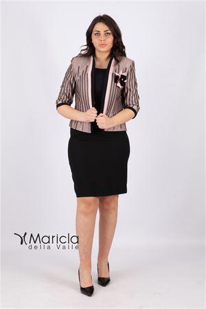 tubino c/giacca fiammata Maricla elegance | 42 | ALE2242NERO