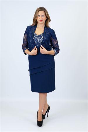 tubino pizzo c/giacchino Maricla elegance | 42 | ALE27318BLUETTE
