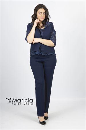 casacca ricamo+pant Maricla elegance | 42 | ALE4046BLU