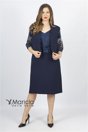 corpetto ricamo+giacca Maricla elegance | 42 | ALE4047BLU