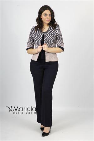 c/giacca fasce e strass+pant Maricla elegance | 42 | ALE4081BLU/ROSA