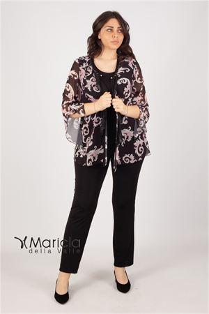 compl.3pz floreale Maricla elegance | 42 | BELGICONERO/ROSA