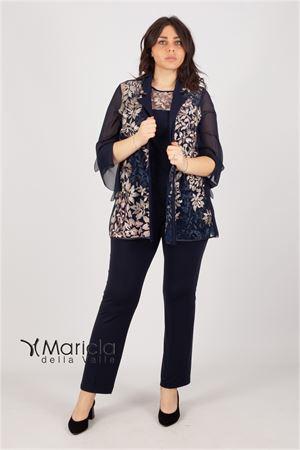 3 pezzi c/ric.foglie Maricla elegance | 42 | BRUNELLABLU