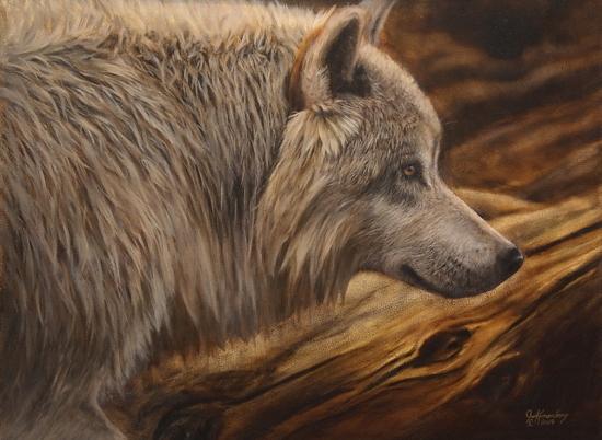 Omega Lonesome by Joe Kronenberg Oil ~ 18 x 24