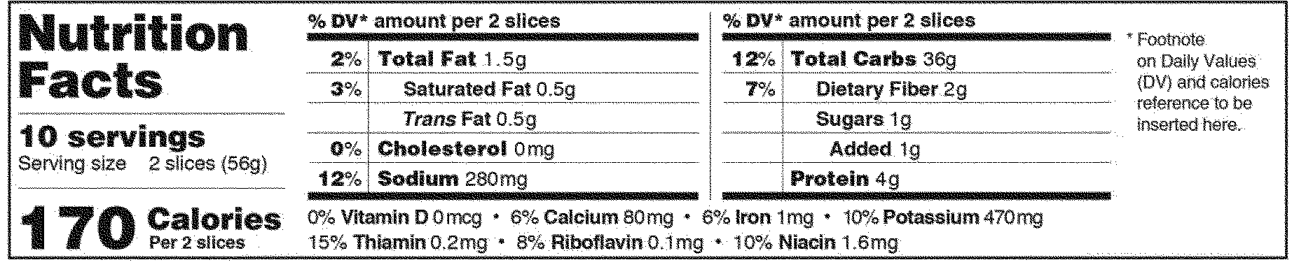 Federal Register :: Food Labeling: Revision Of The Nutrition And Supplement  Facts Labels  Ingredients Label Template