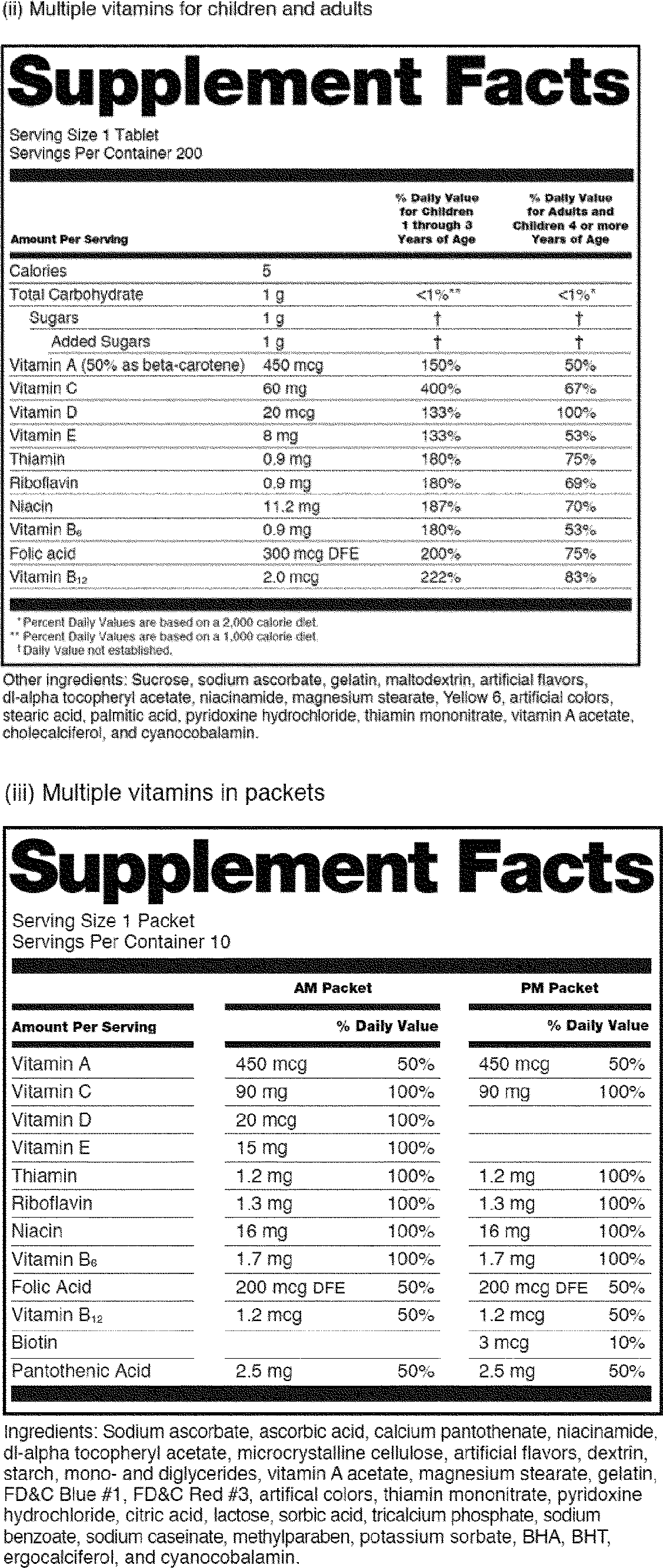 Fda nutrition facts label template nutrition ftempo for Supplement facts template