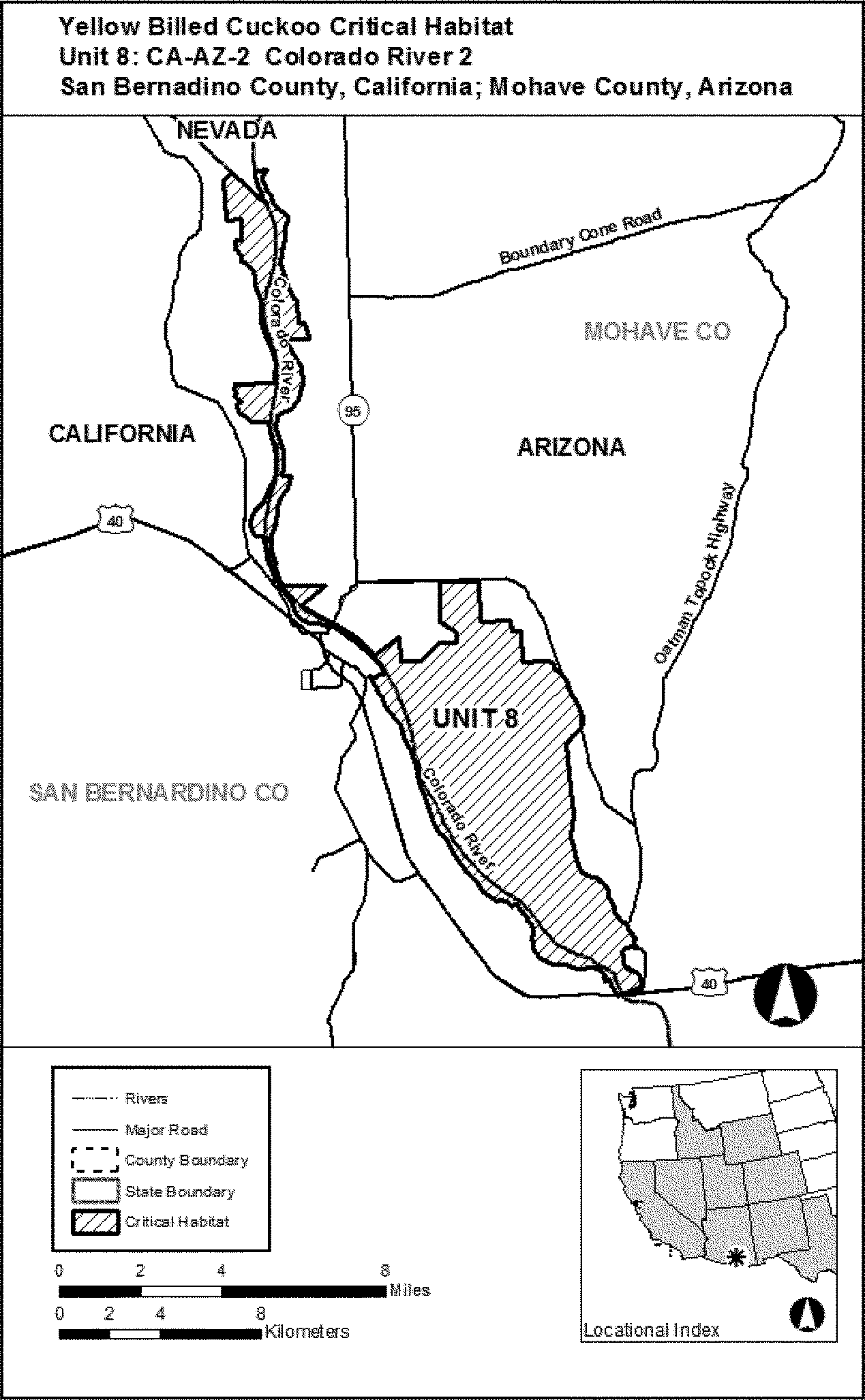 Map Of Unit 8 Arizona.Federal Register Endangered And Threatened Wildlife And Plants