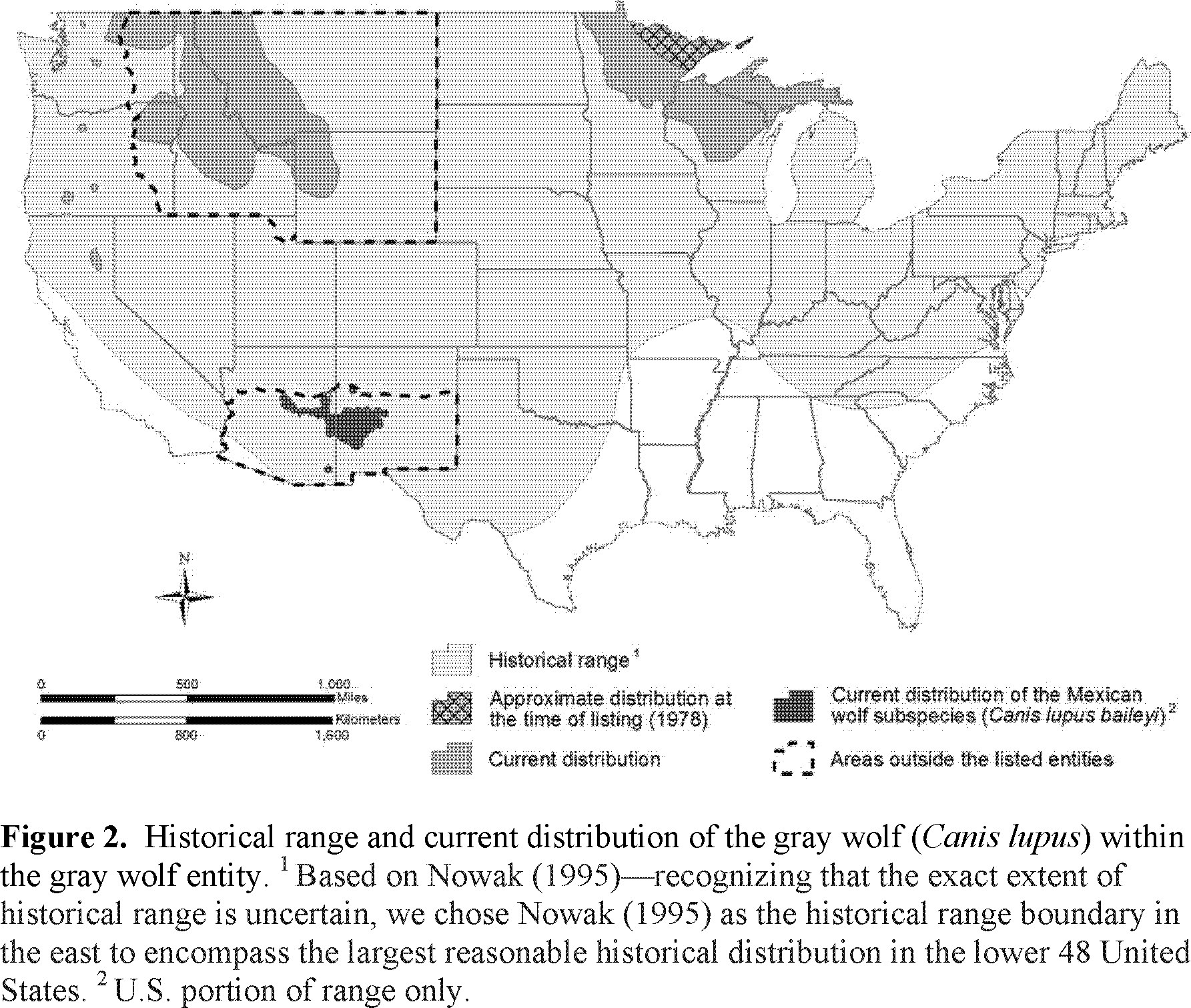Federal Register Endangered And Threatened Wildlife And Plants Removing The Gray Wolf Canis Lupus