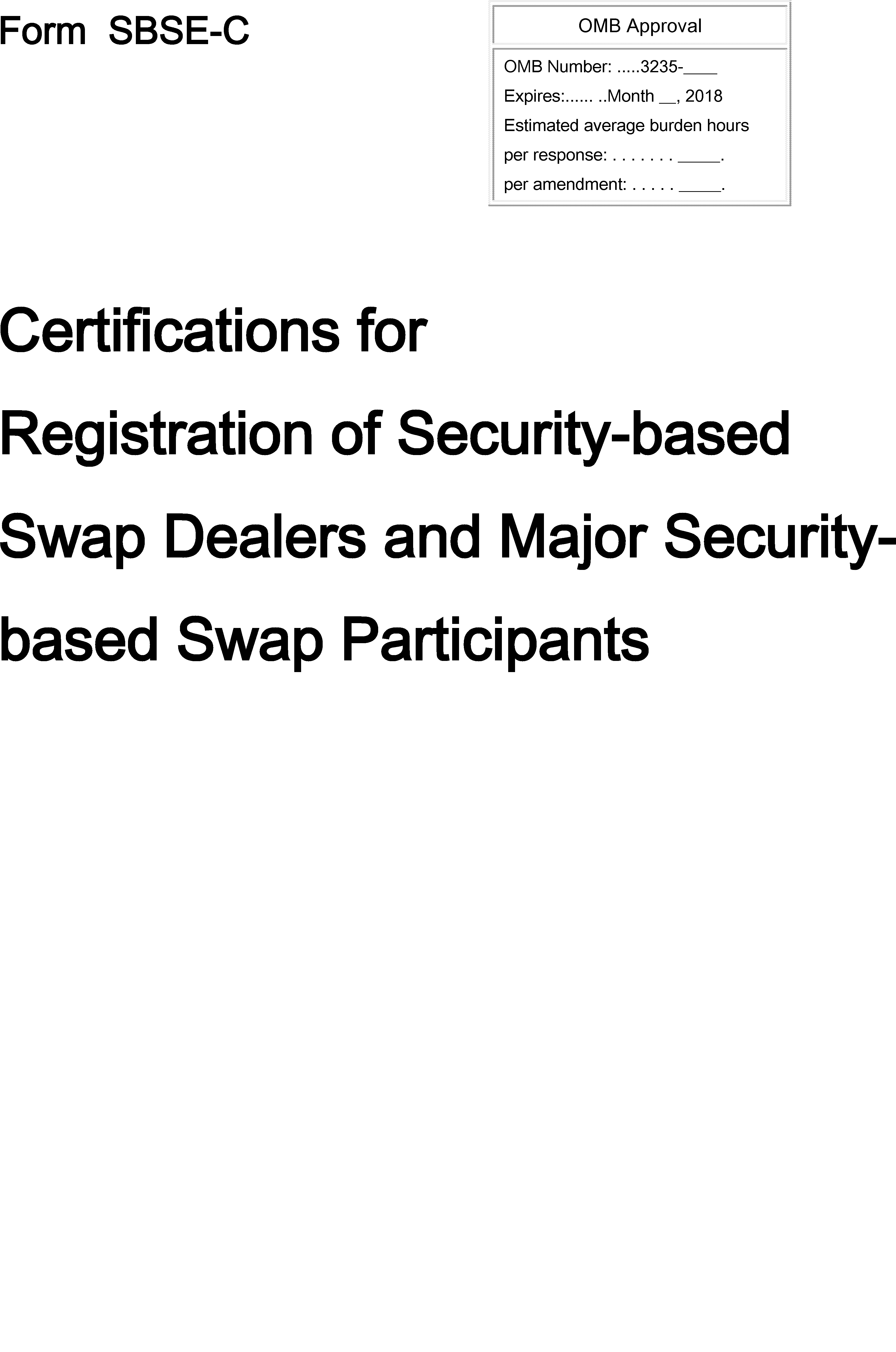 Federal Register :: Registration Process for Security-Based