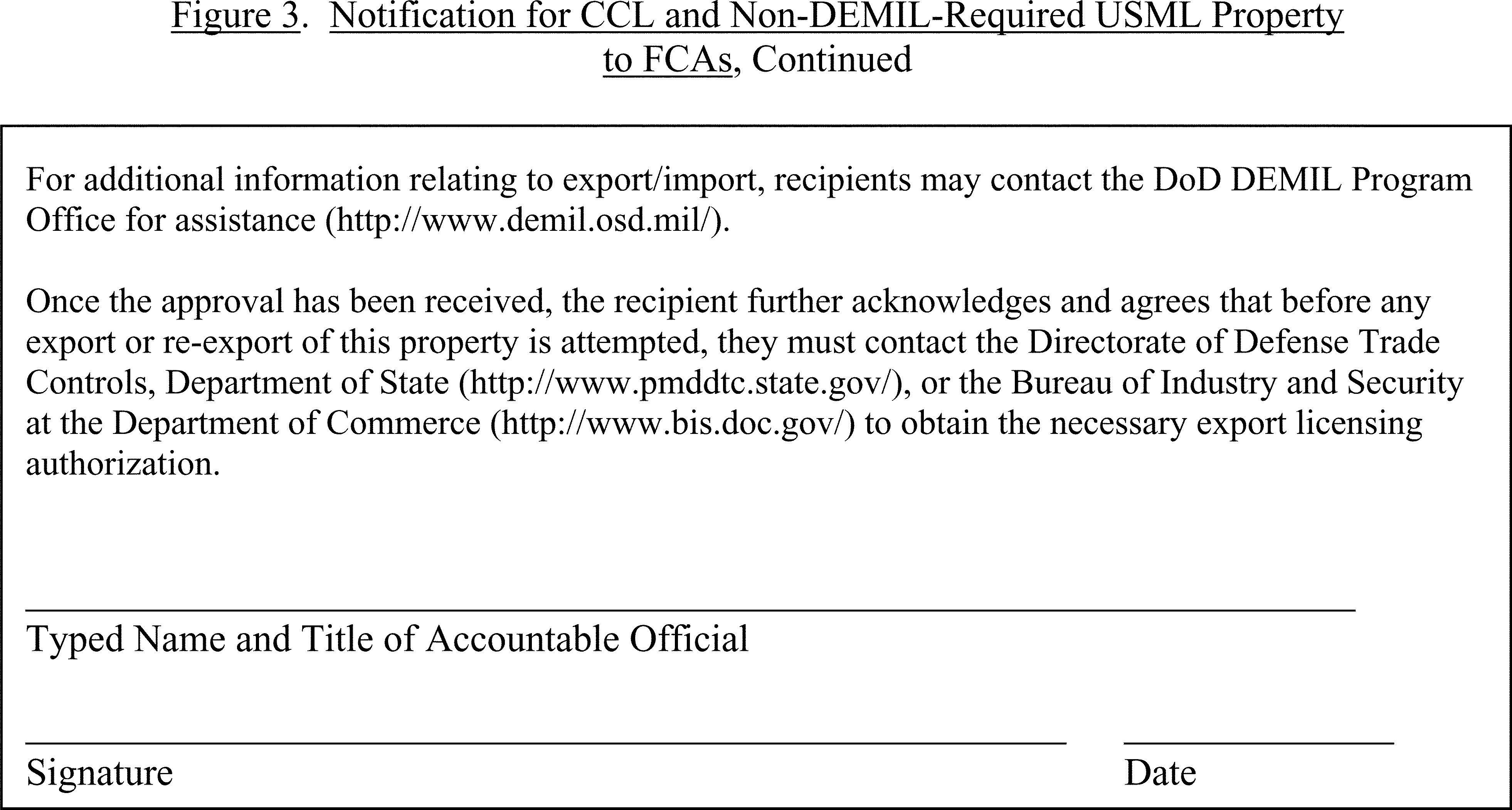 Federal Register :: Defense Materiel Disposition