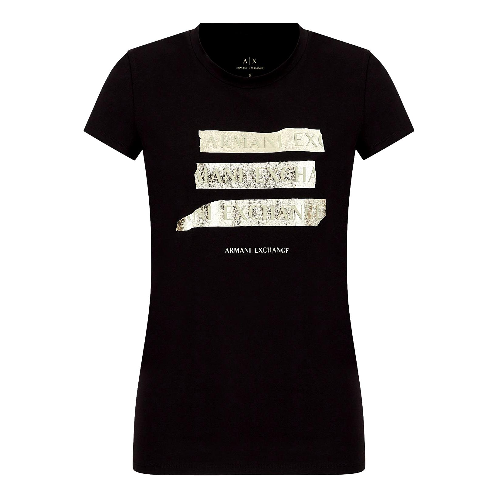 T-shirt with gold logo ARMANI EXCHANGE |  | 6KYTGM YJC7Z1200