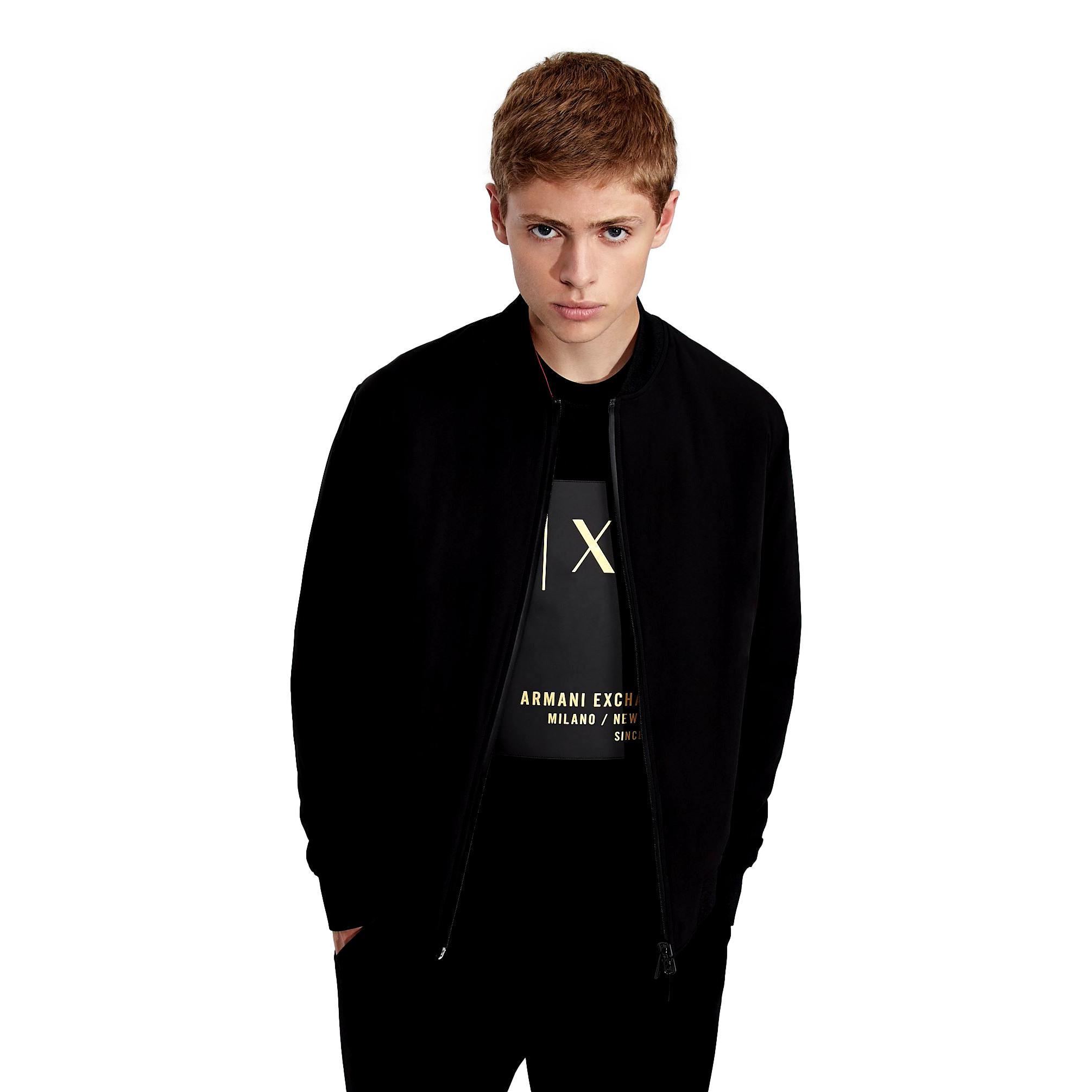 Crewneck sweatshirt with knitted details ARMANI EXCHANGE |  | 6KZMDB ZJ6PZ1200