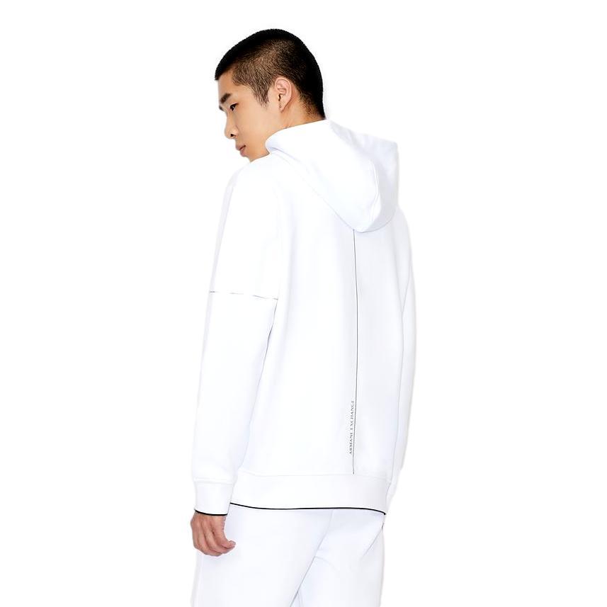 Full zip sweatshirt with logo and shiny metal details ARMANI EXCHANGE      6KZMFF ZJ5NZ1100