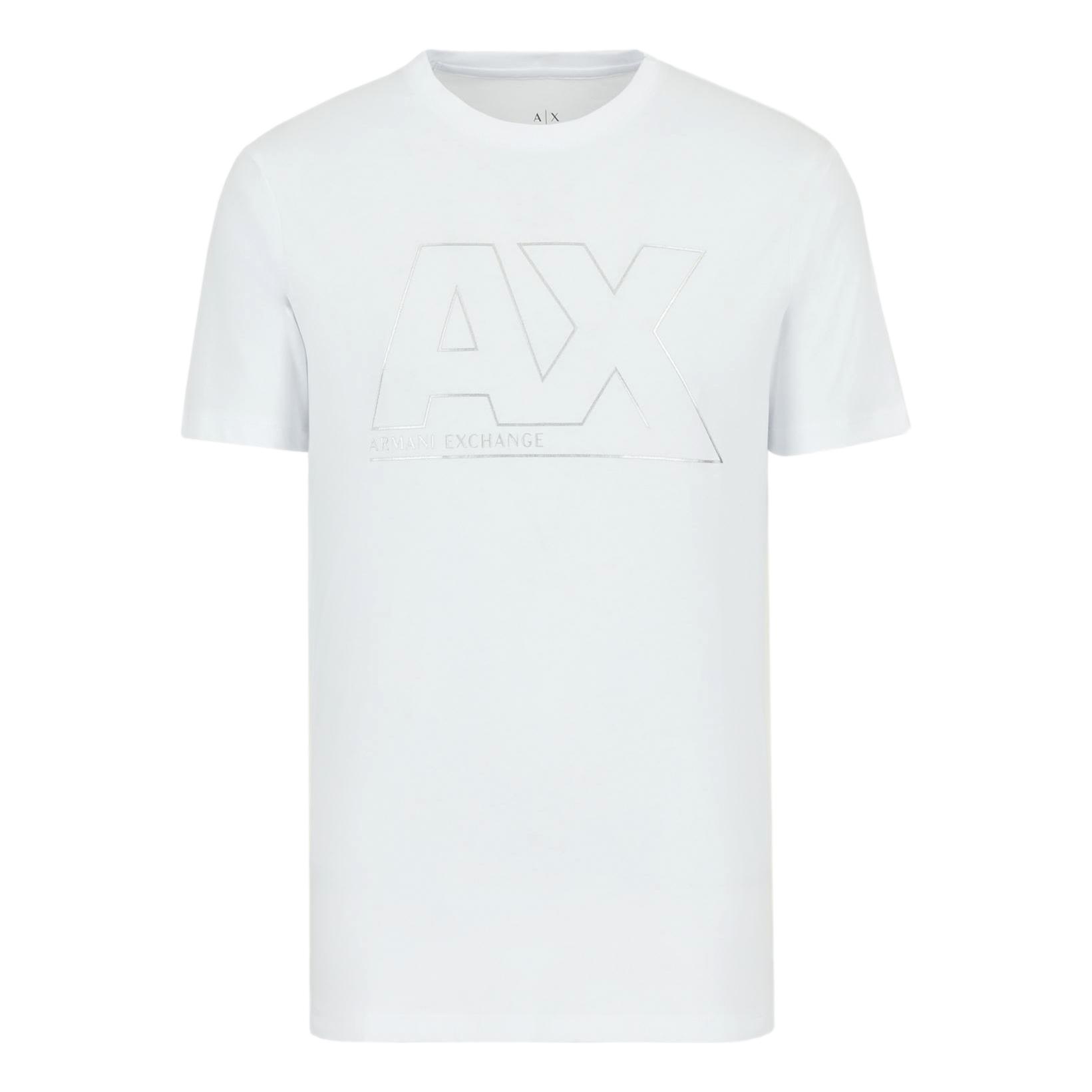 Slim fit T-shirt with shiny maxi-logo ARMANI EXCHANGE      6KZTFA ZJBVZ1100