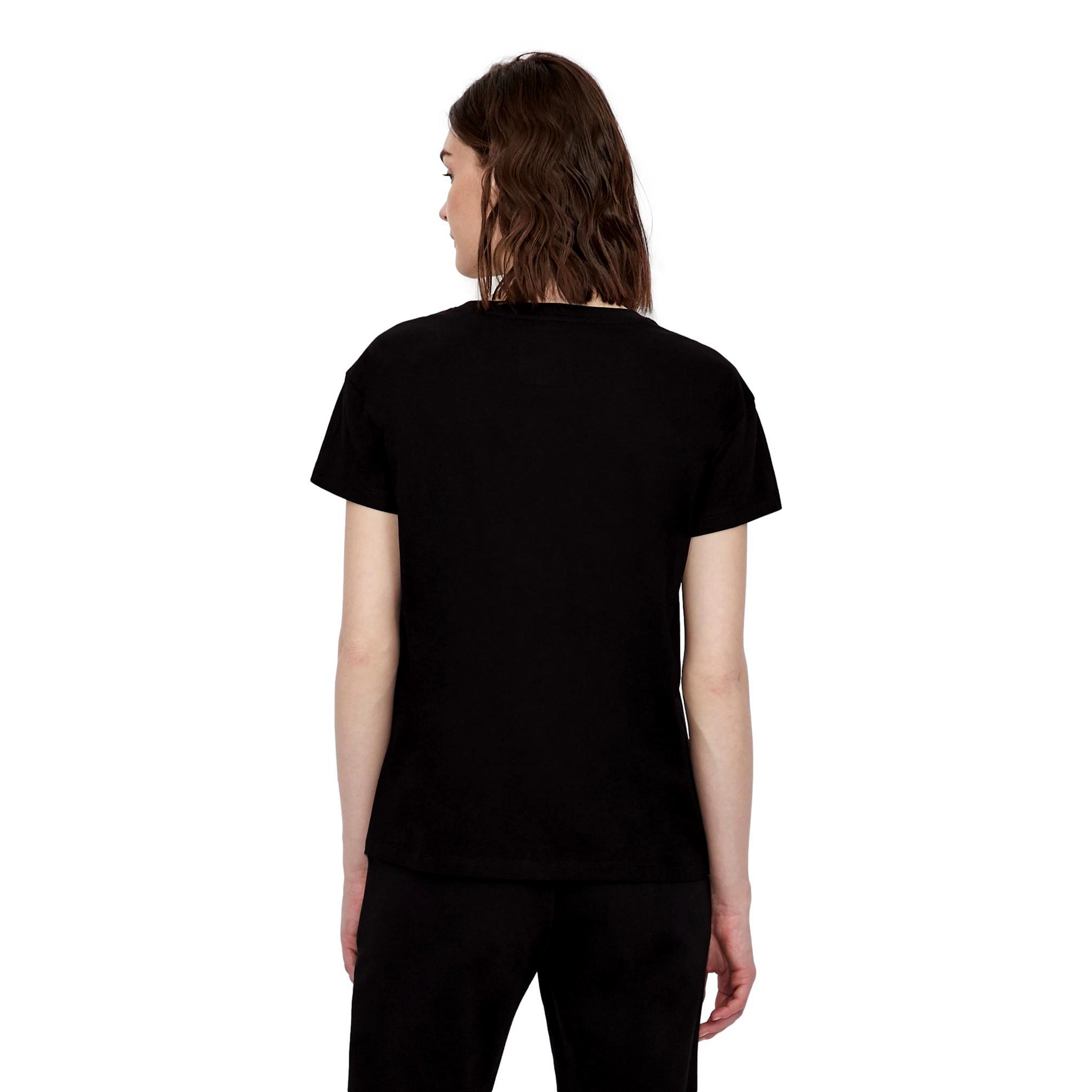 Boyfriend fit T-shirt with applied studs ARMANI EXCHANGE      8NYTDX YJG3Z8218