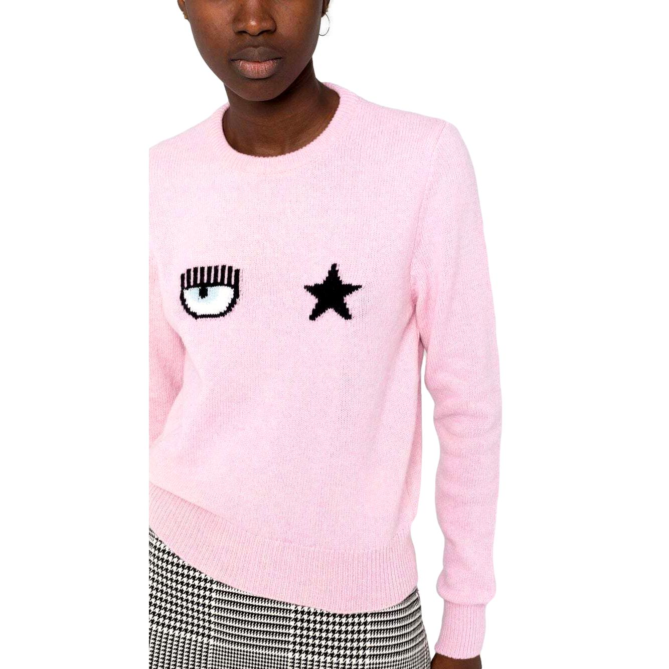 Eyestar crew neck sweater  CHIARA FERRAGNI      71CBFM01 CMM00414