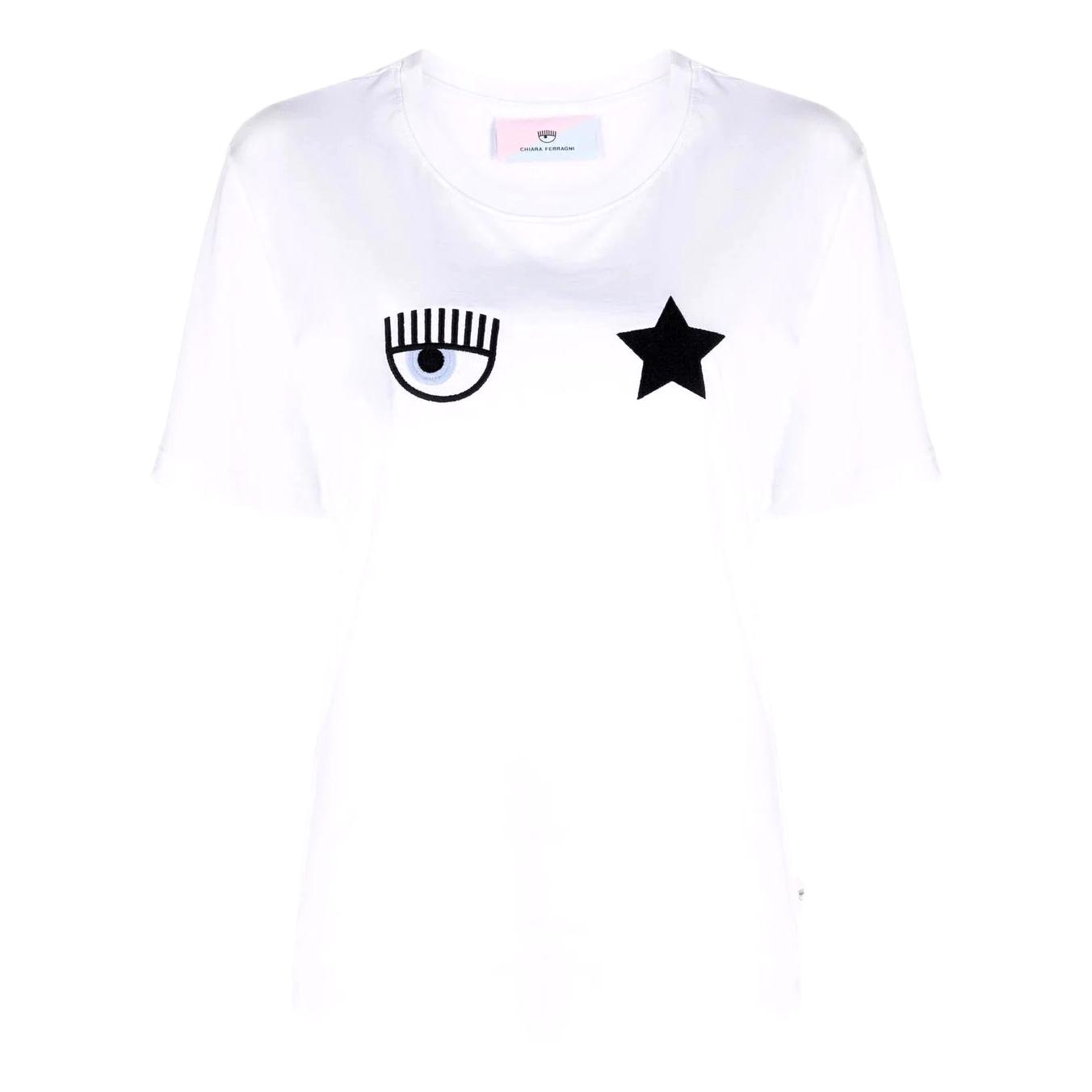 T-shirt with embroidery CHIARA FERRAGNI |  | 71CBHT01 CJC0T003