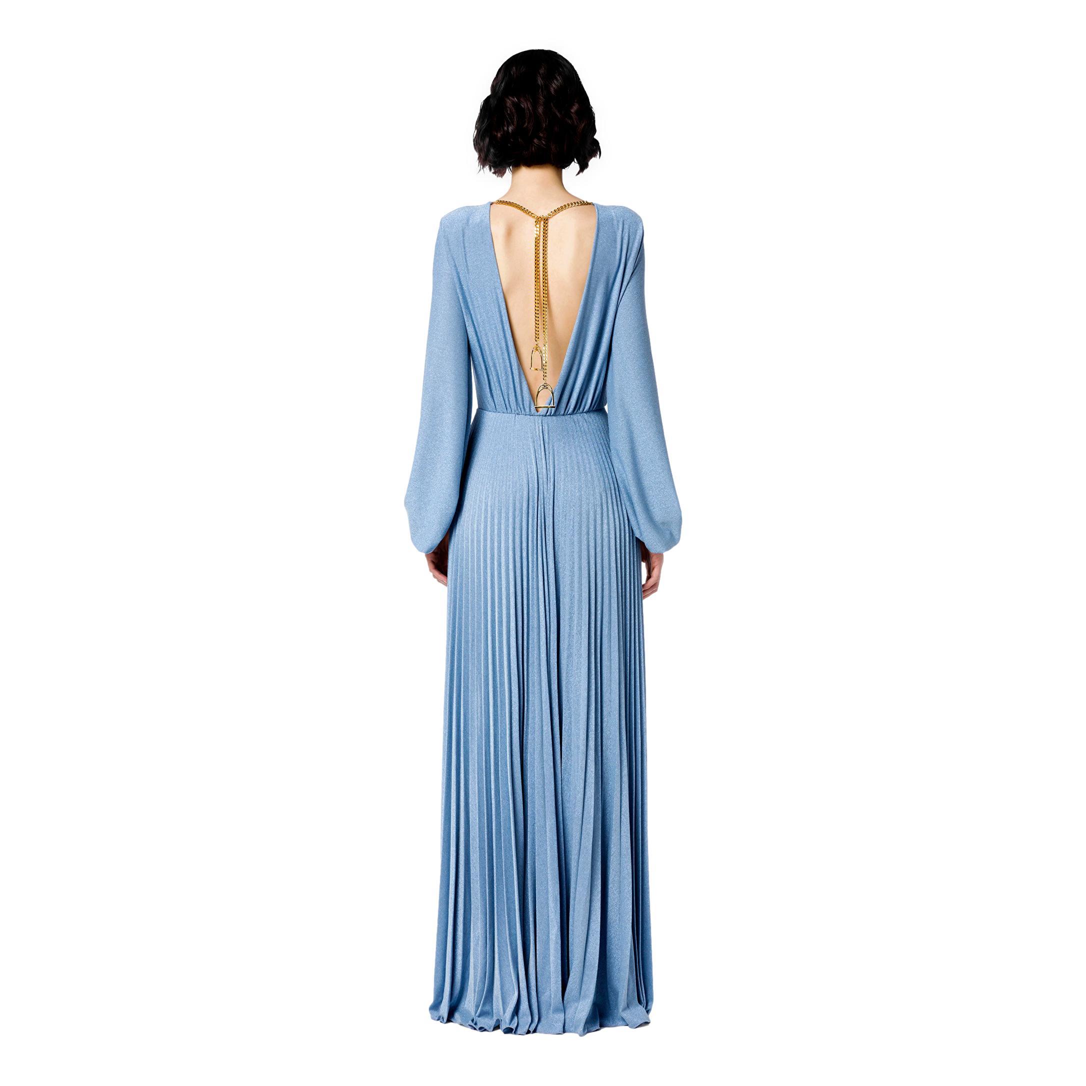 Red Carpet pleated dress with light gold stirrup charm ELISABETTA FRANCHI |  | AB05816E2Q80