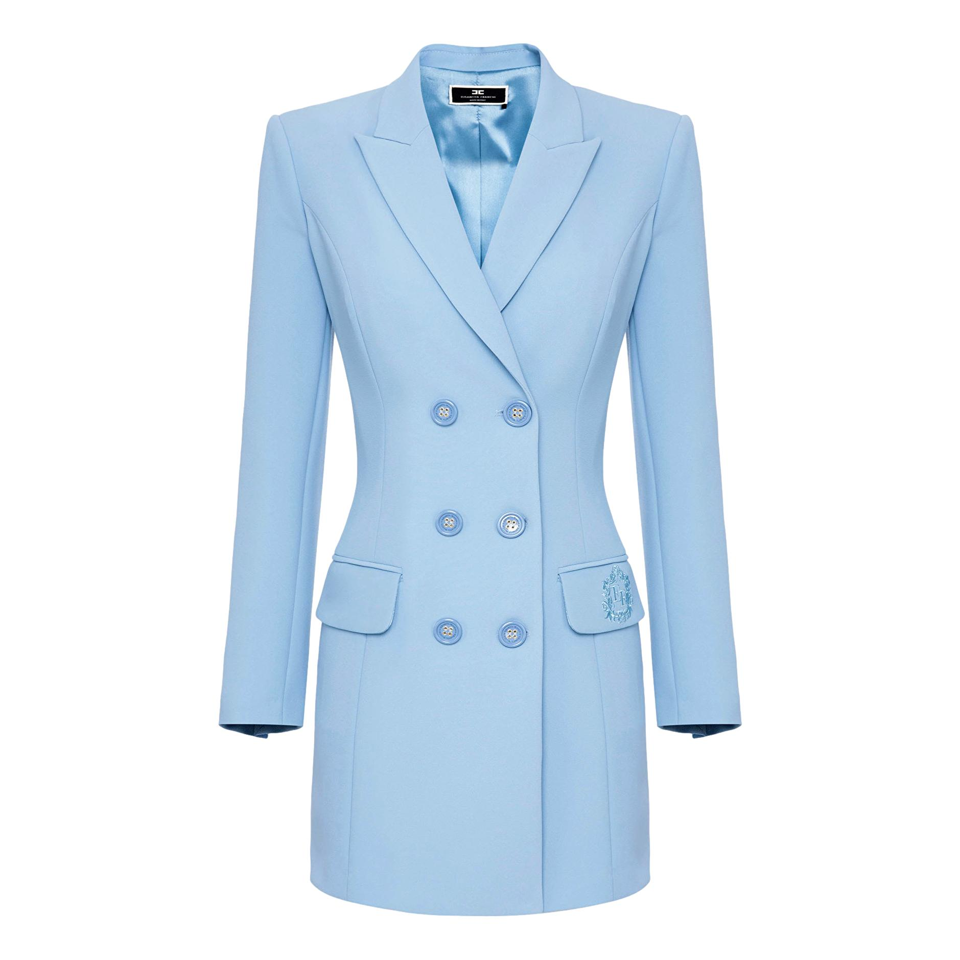 Abito Robe manteau con stemma ricamato EF ELISABETTA FRANCHI | Abiti | AB08916E2Q80