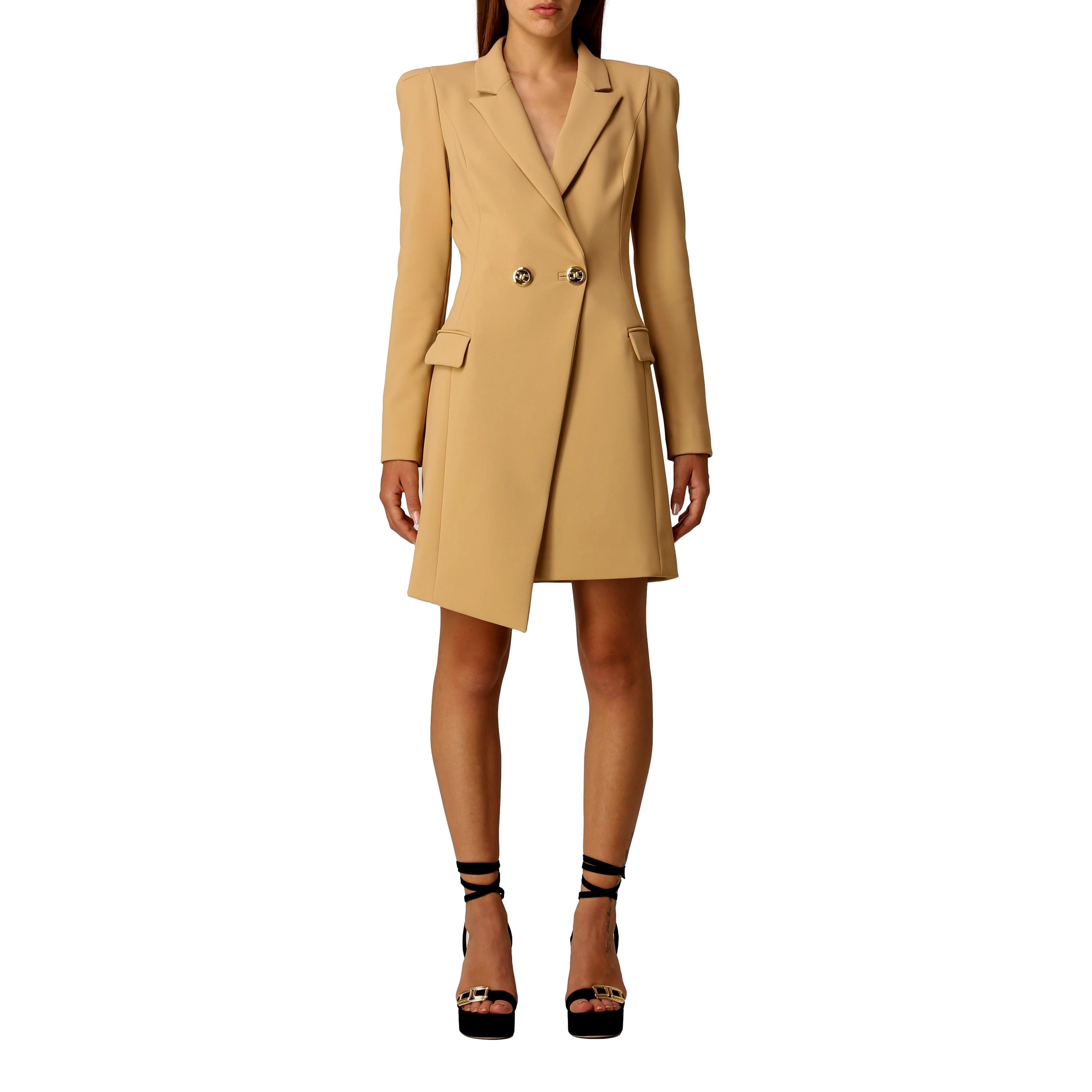 Robe manteau asymmetrical dress with lapel ELISABETTA FRANCHI |  | AB09116E2470