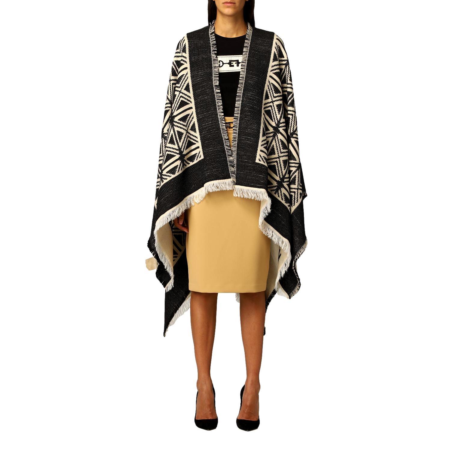 Jacquard cape with kilim design ELISABETTA FRANCHI      MT03F16E2685