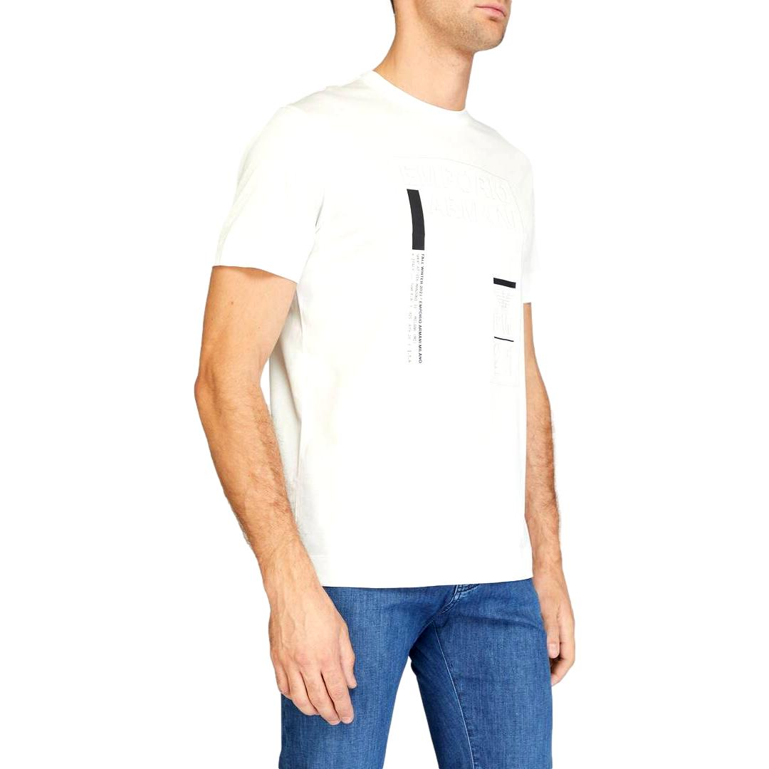 T-shirt in jersey misto Tencel stampa riquadro logo EMPORIO ARMANI | T-shirt | 6K1T94 1JUVZ0101