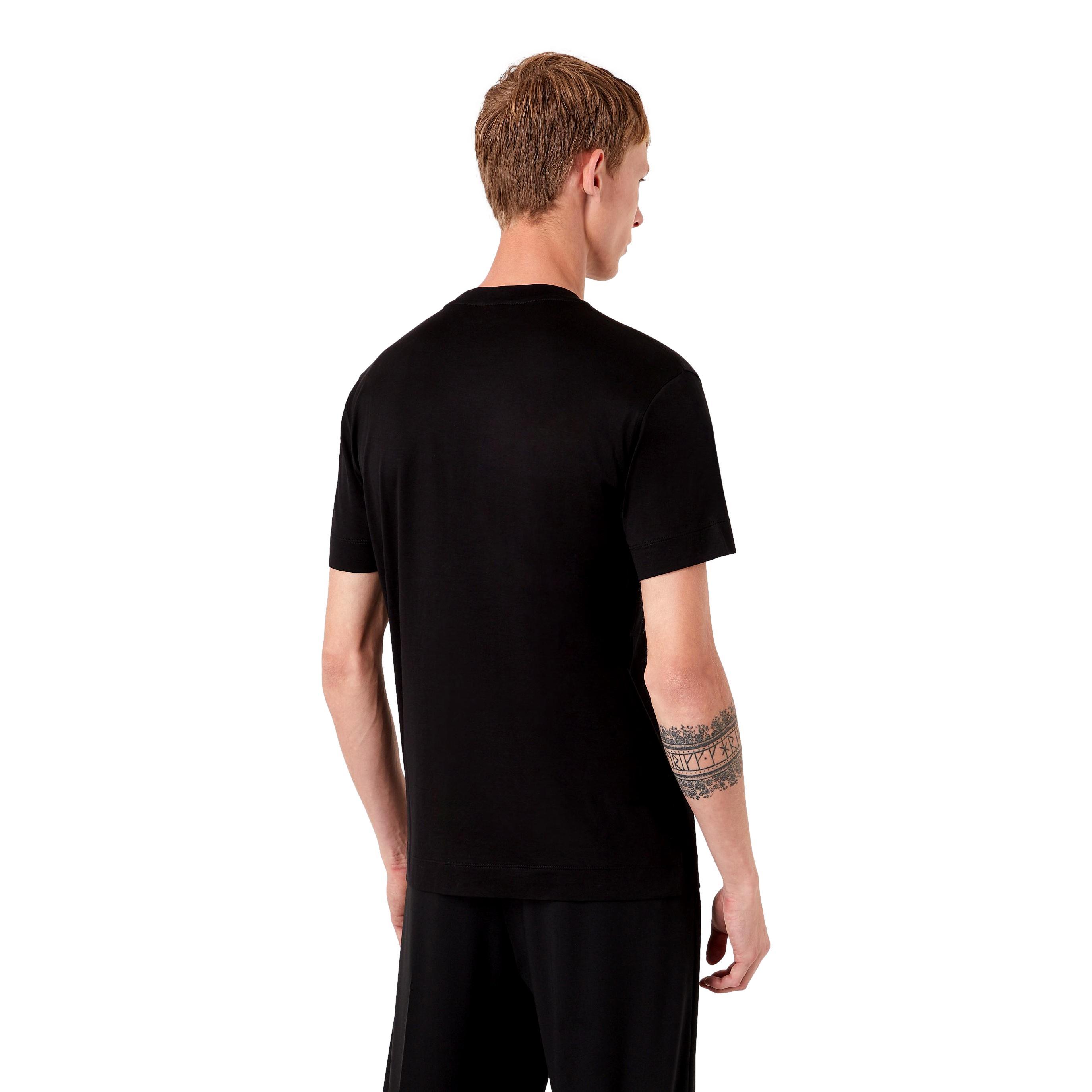 T-shirt in jersey misto Tencel stampa riquadro logo EMPORIO ARMANI   T-shirt   6K1T94 1JUVZ0999