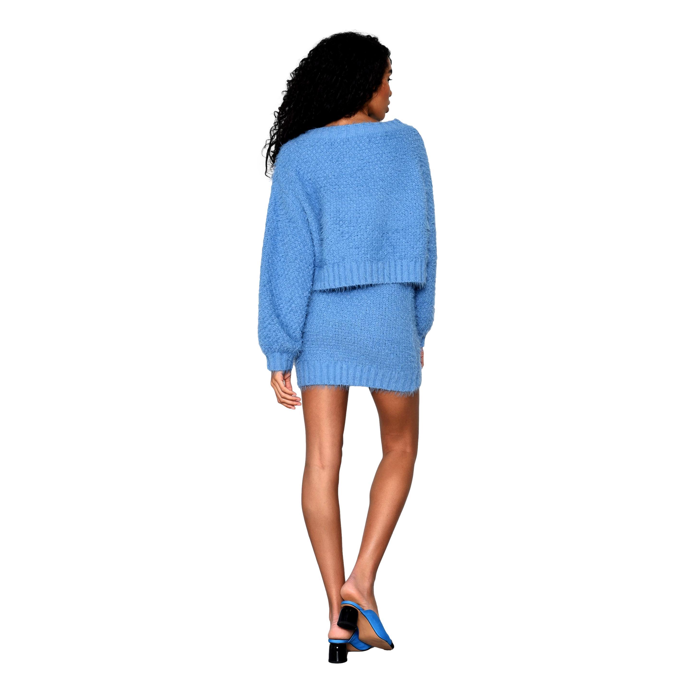 Glamorous Heritage Blue Knit Jumper GLAMOROUS | Maglie | TM0248BLUE