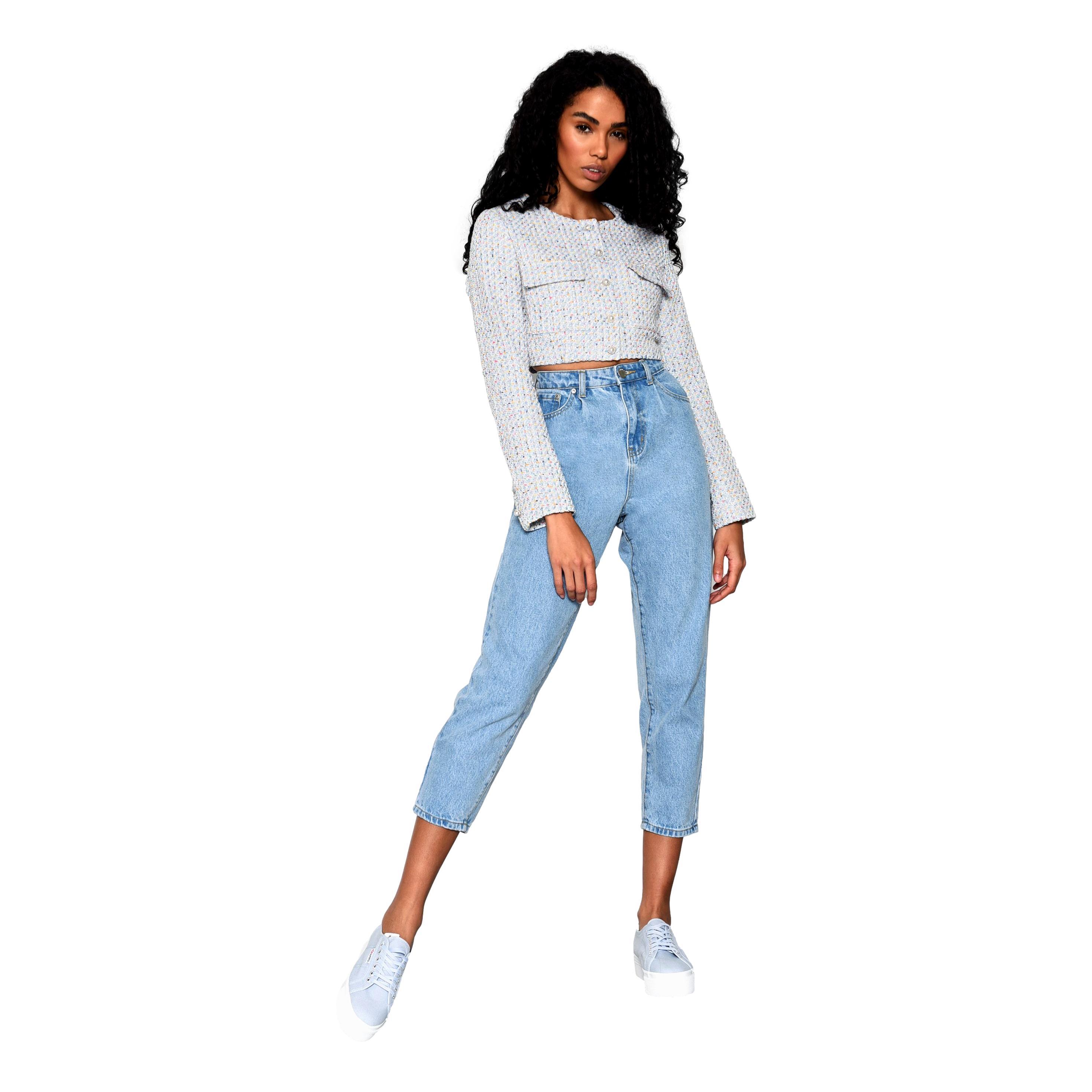 LADIES JEANS LIGHT STONEWASH GLAMOROUS | Jeans | TM0422STONEWASK