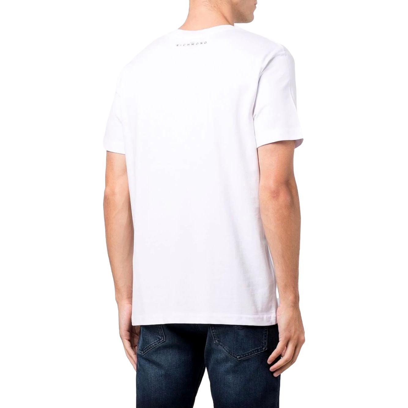 T-shirt con stampa mcenroe RICHMOND JOHN | T-shirt | RMA21312TS9FWHITE