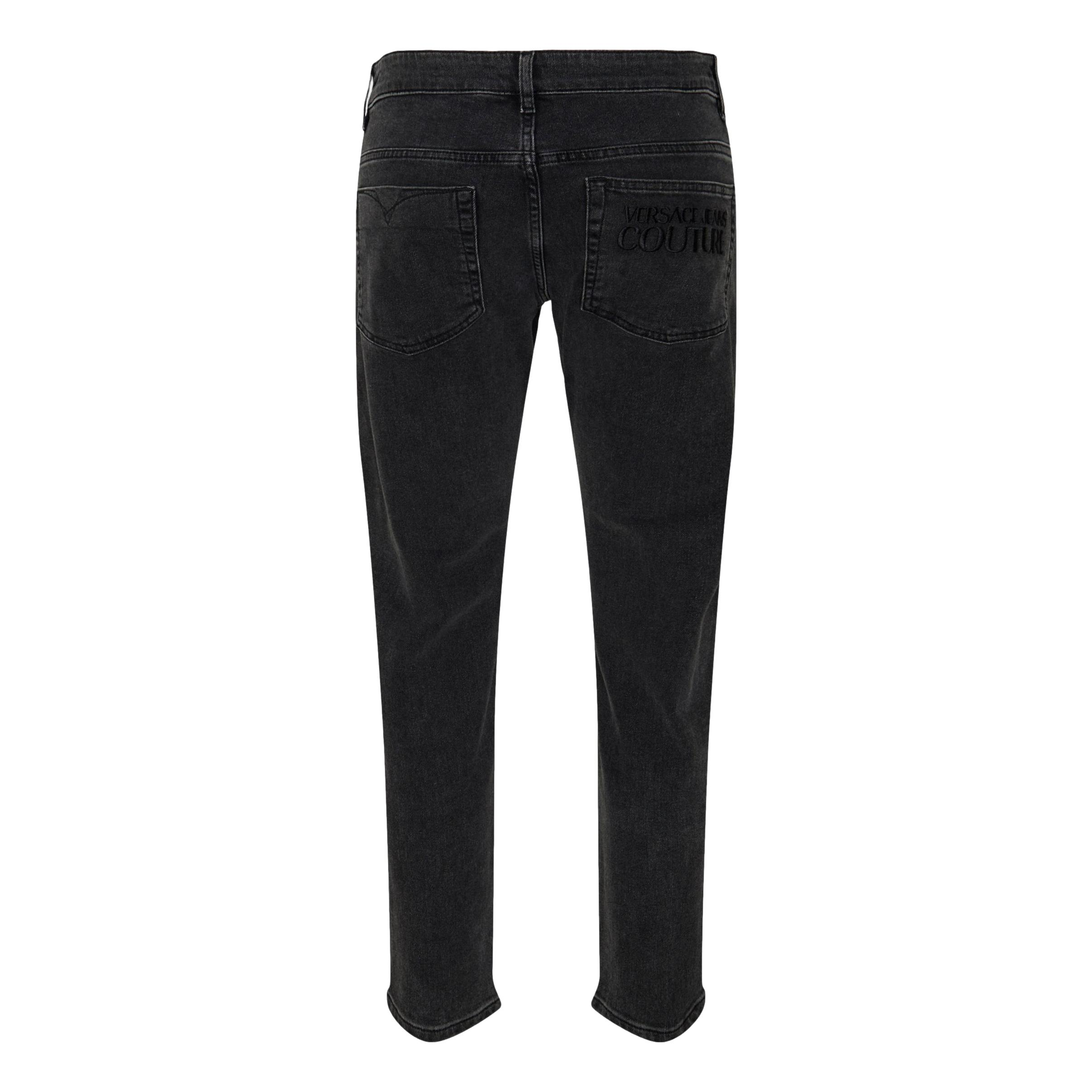 Cigarette jeans with black embossed logo VERSACE JEANS COUTURE |  | 71GAB5D4 CDW07909