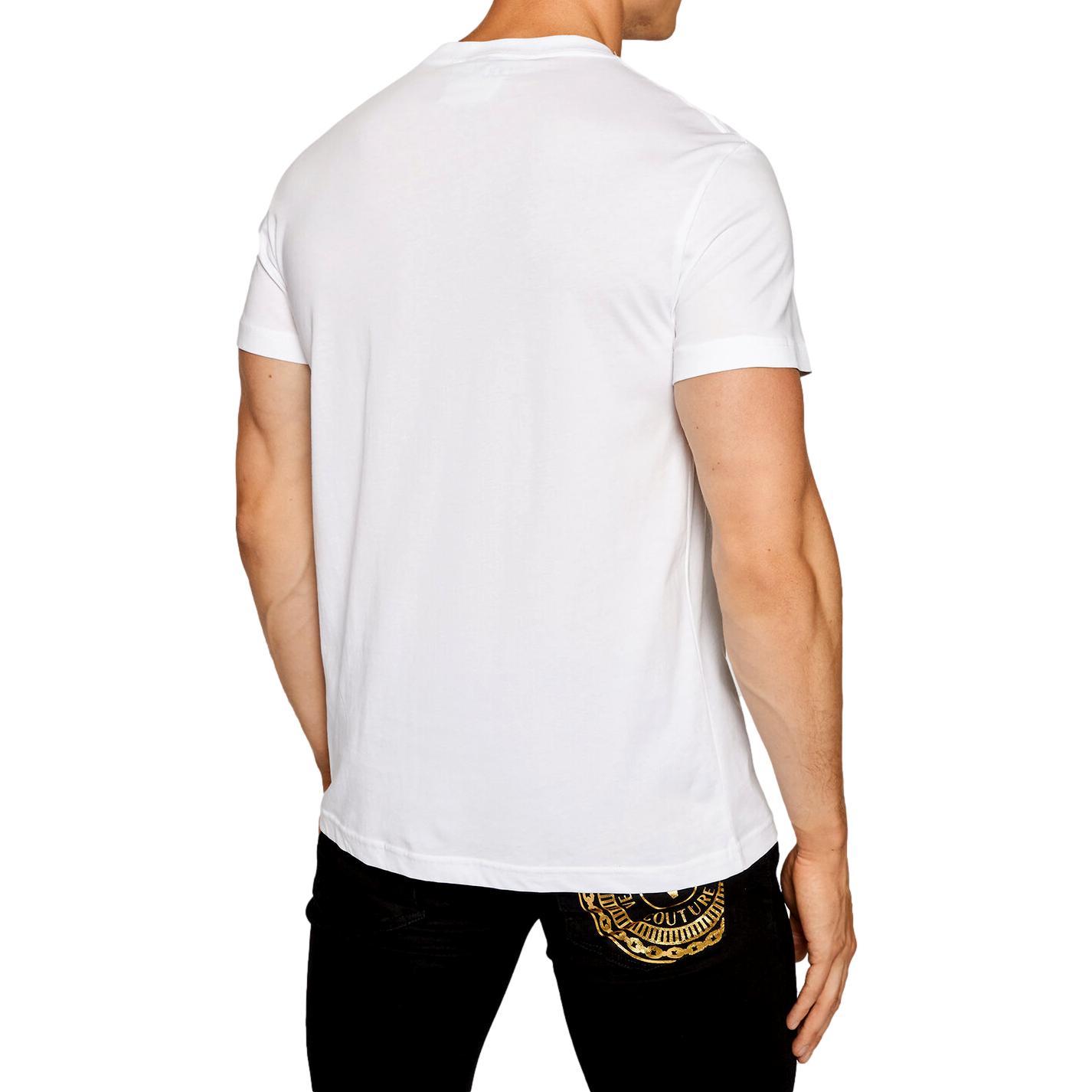 T-shirt con emblema del logo VERSACE JEANS COUTURE   T-shirt   71GAHF05 CJ00FG03