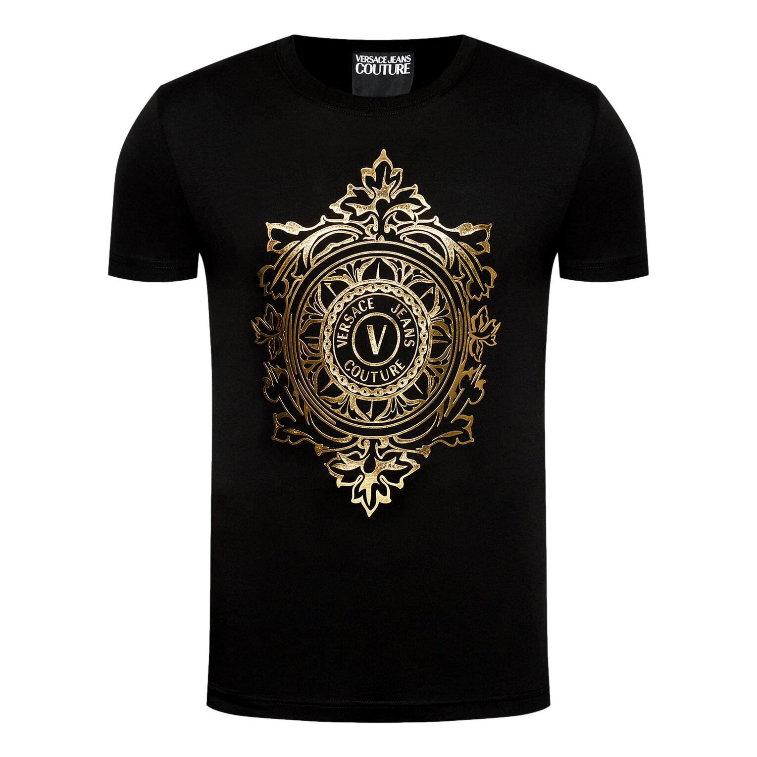T-shirt with logo emblem VERSACE JEANS COUTURE |  | 71GAHF05 CJ00FG89