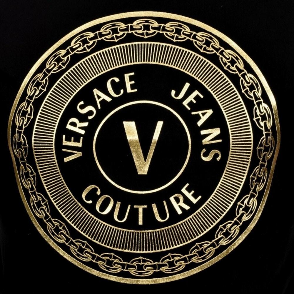 Crewneck T-shirt with gold logo VERSACE JEANS COUTURE |  | 71GAHT12 CJ00TG89