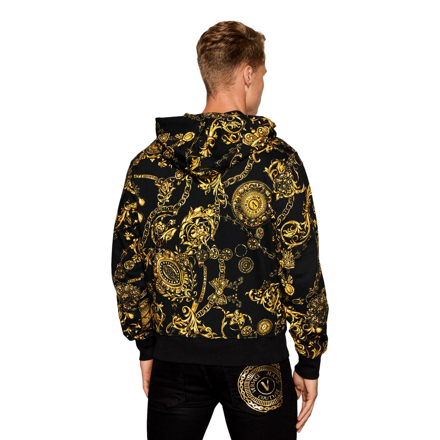 Sweatshirt with zip and baroque print VERSACE JEANS COUTURE |  | 71GAI3Z0 FS002G89