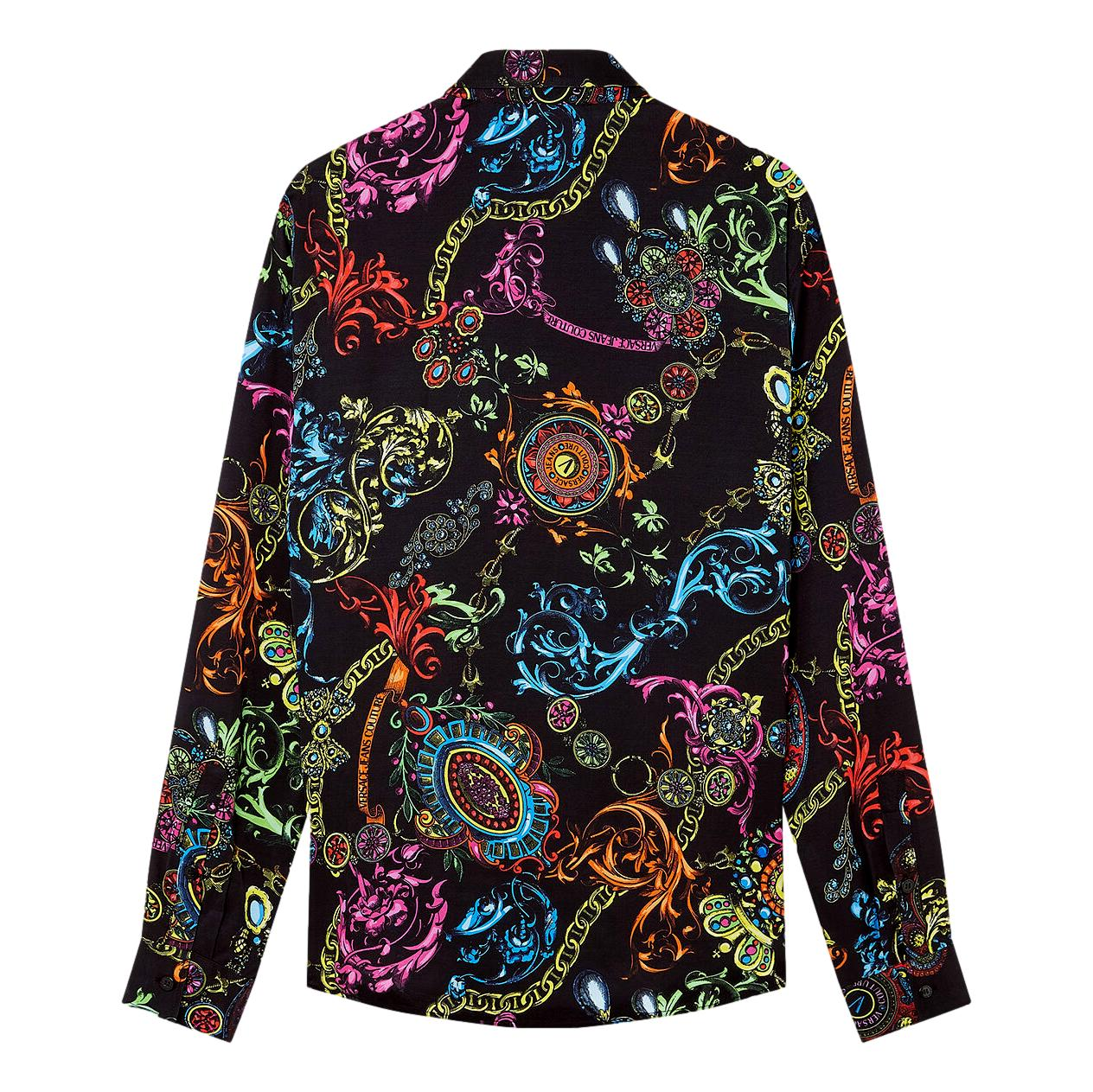 SHIRT WITH MULTICOLOR BAROQUE REGALIA PRINT VERSACE JEANS COUTURE |  | 71GAL2R0 NS007899