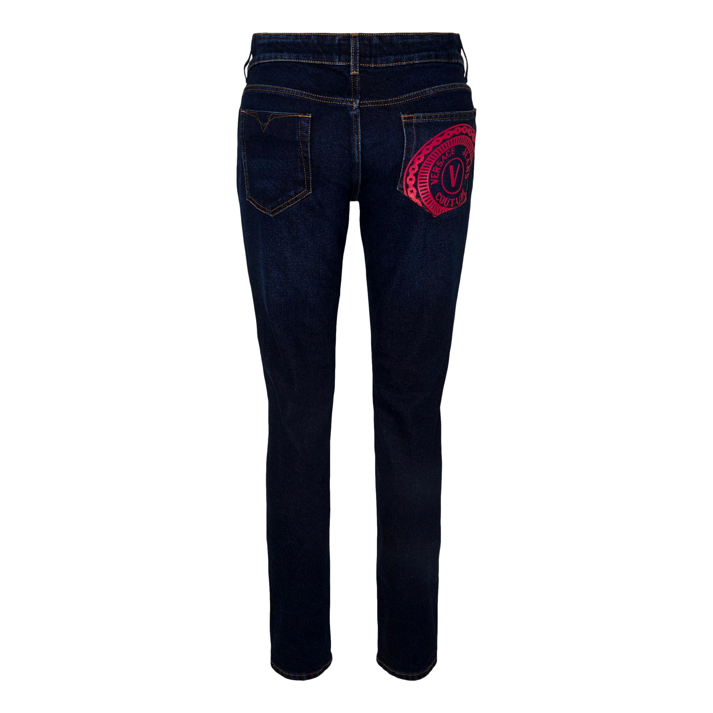 Jeans Skinny Fit con logo sulla tasca VERSACE JEANS COUTURE | Pantalone | 71HAB5K1 DW00904D904
