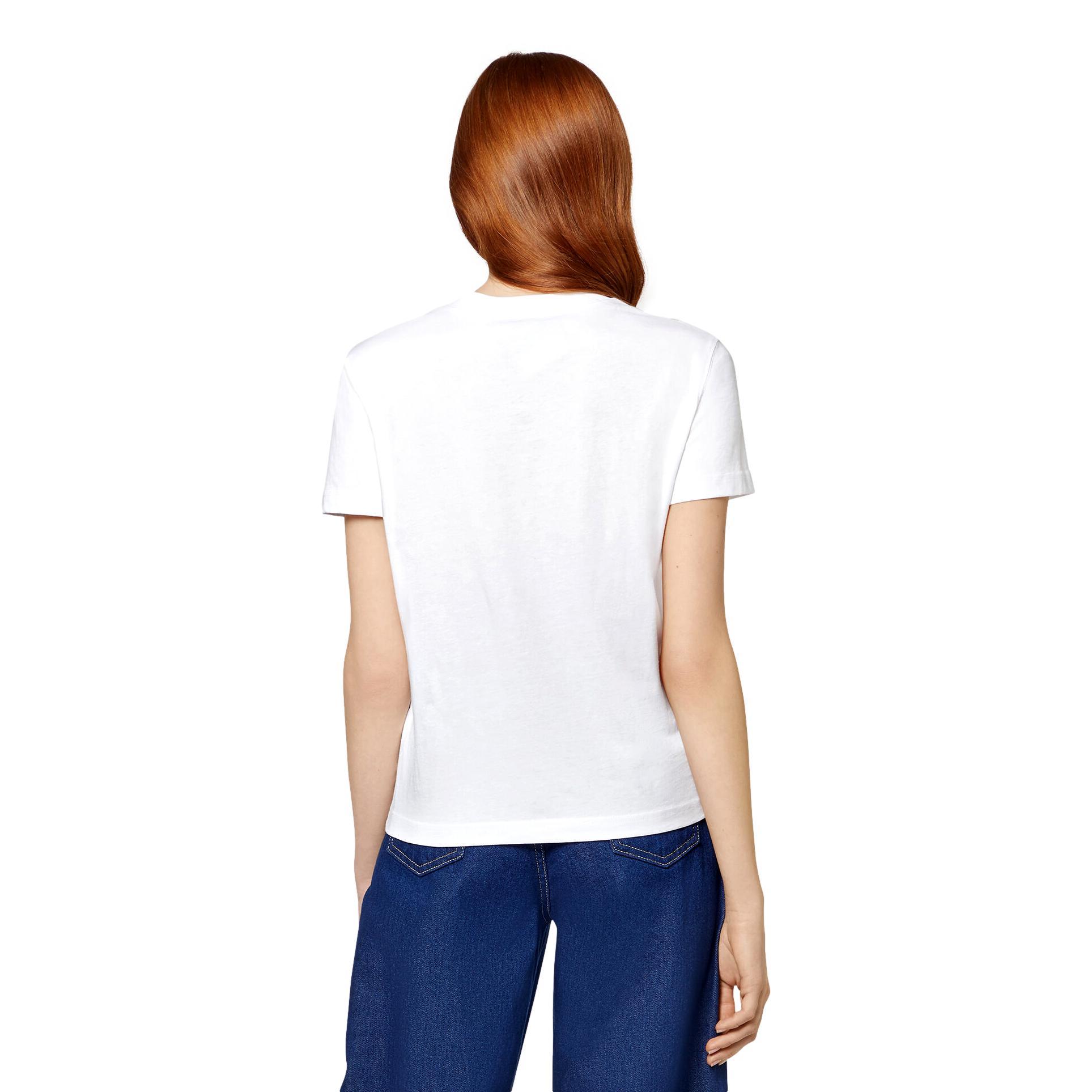 T-SHIRT CON LOGO SCRITTA MULTICOLORE VERSACE JEANS COUTURE   T-shirt   71HAHF03 CJ00F003