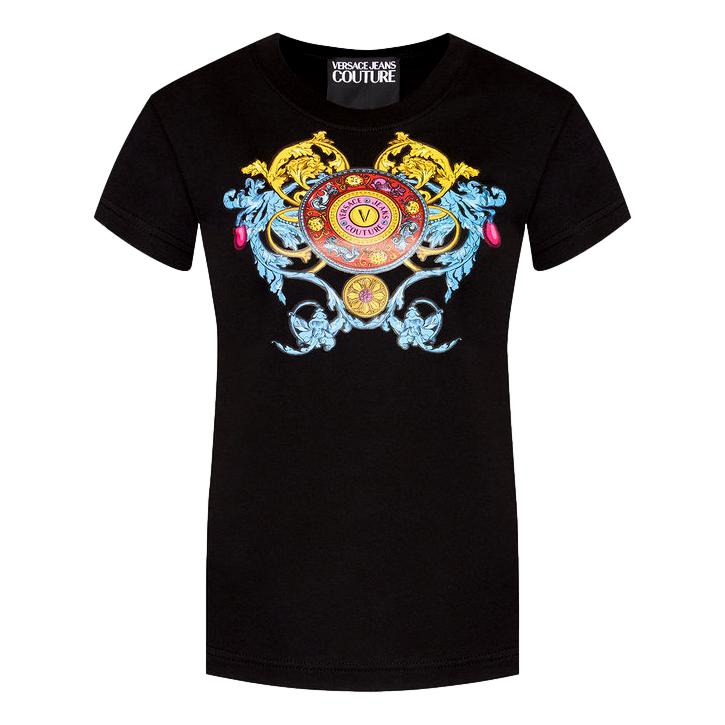 T-SHIRT CON STAMPA MULTICOLORE VERSACE JEANS COUTURE | T-shirt | 71HAHT17 CJ00O899