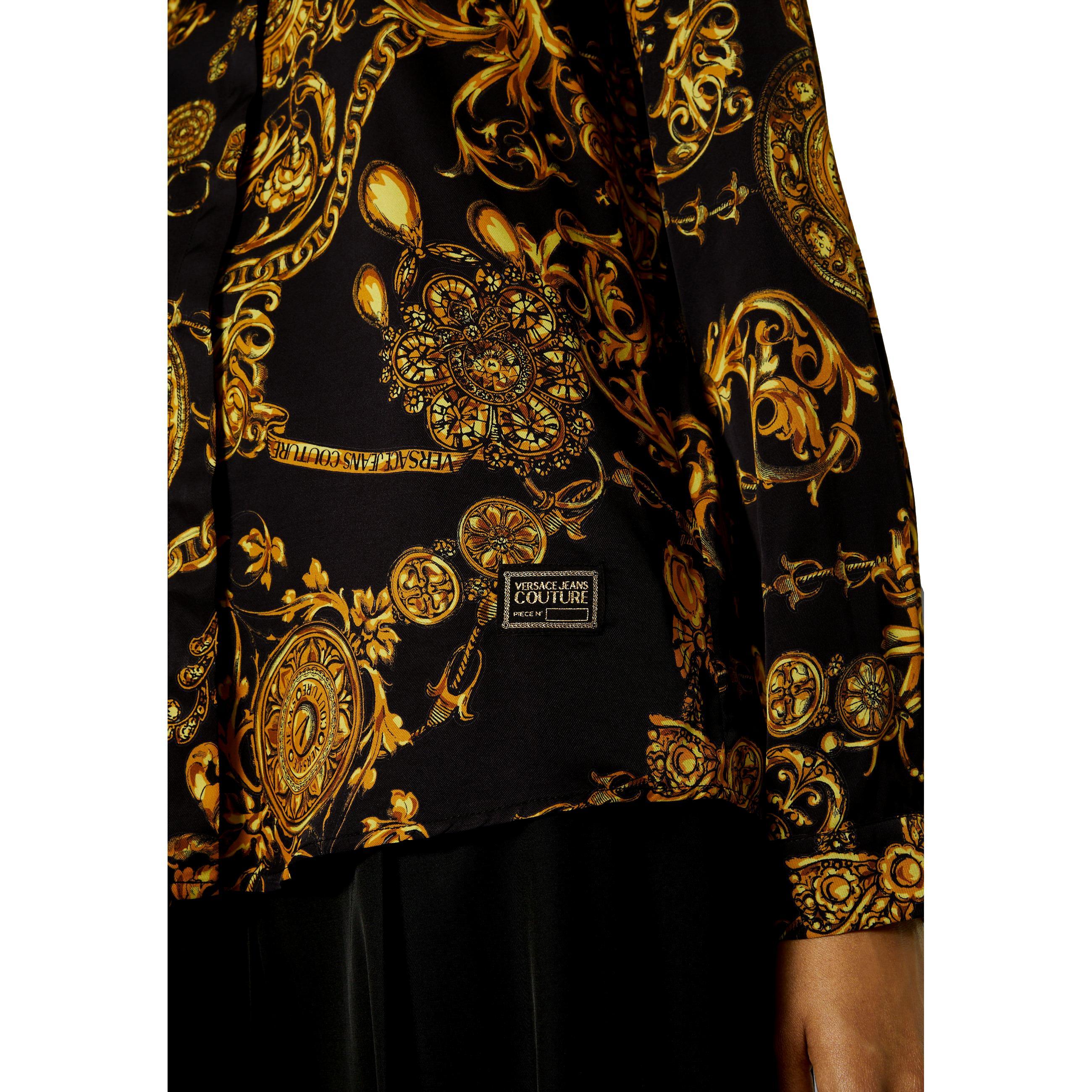 CAMICIA CON STAMPA REGALIA BAROQUE VERSACE JEANS COUTURE   Camicie   71HAL201 NS007G89