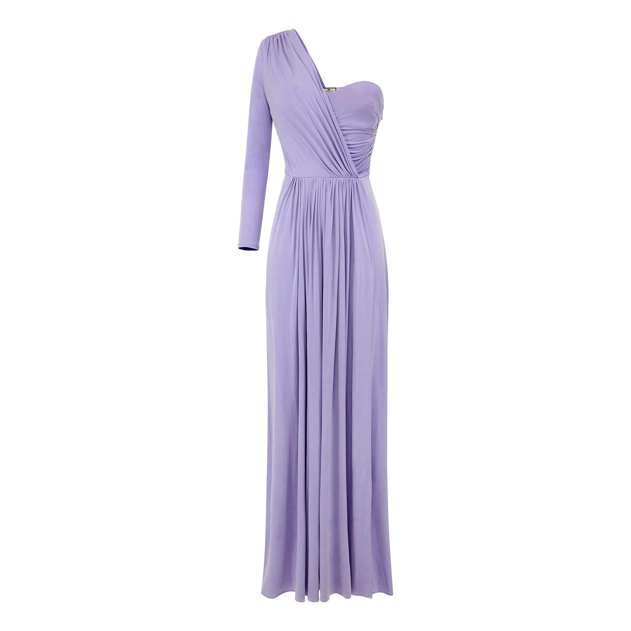 Long one-shoulder dress ELISABETTA FRANCHI |  | AB02311E2Q38