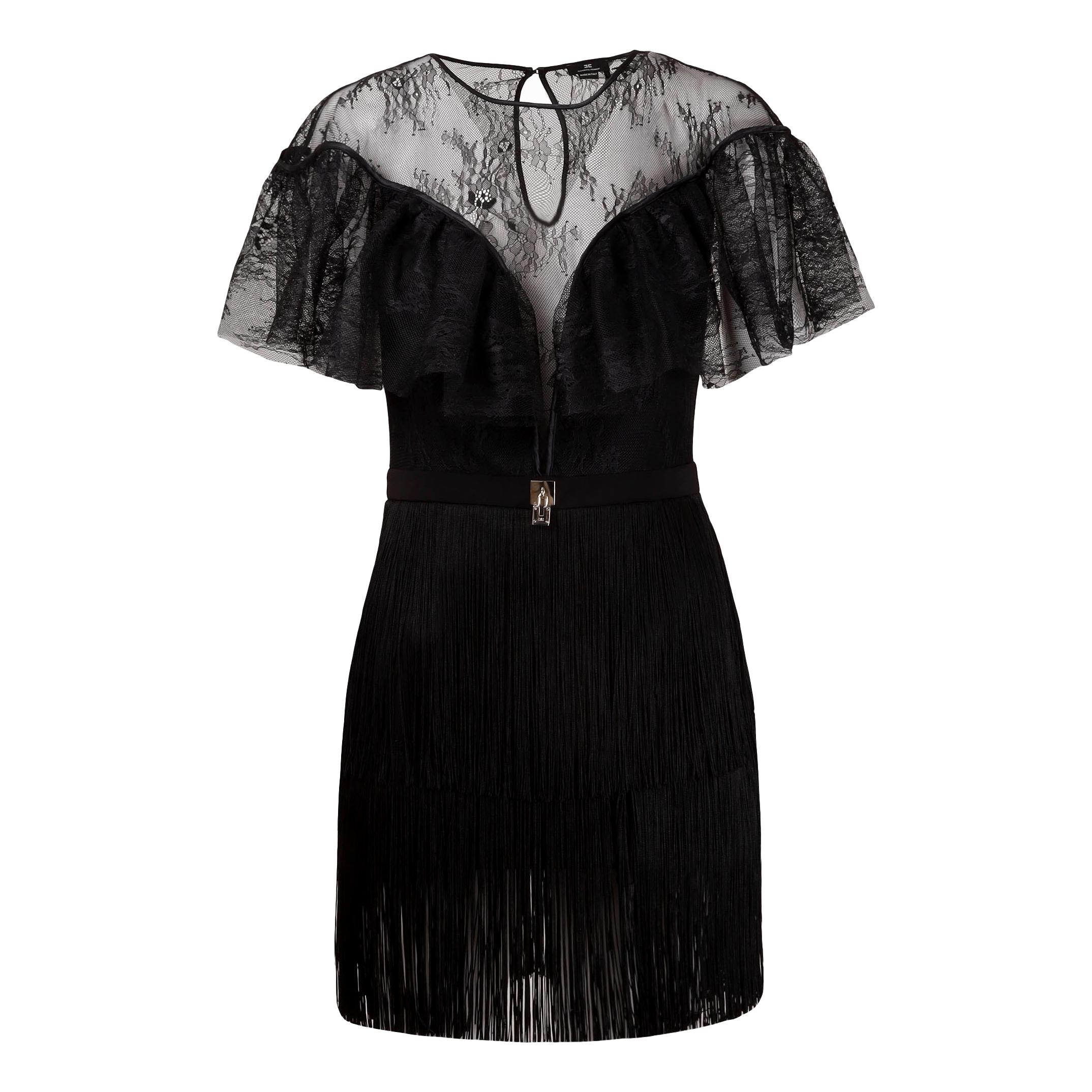 Mini dress in sheer lace fabric ELISABETTA FRANCHI |  | AB03311E2110