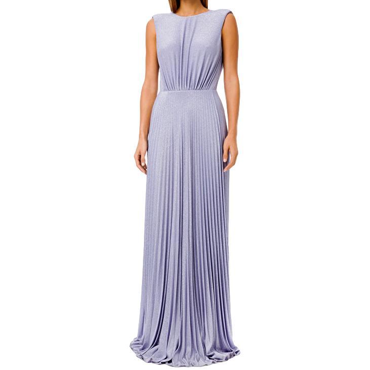 Pleated floor-length dress ELISABETTA FRANCHI      AB05211E2Q38