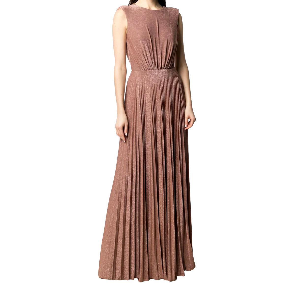 Pleated floor-length dress ELISABETTA FRANCHI |  | AB05211E2W71