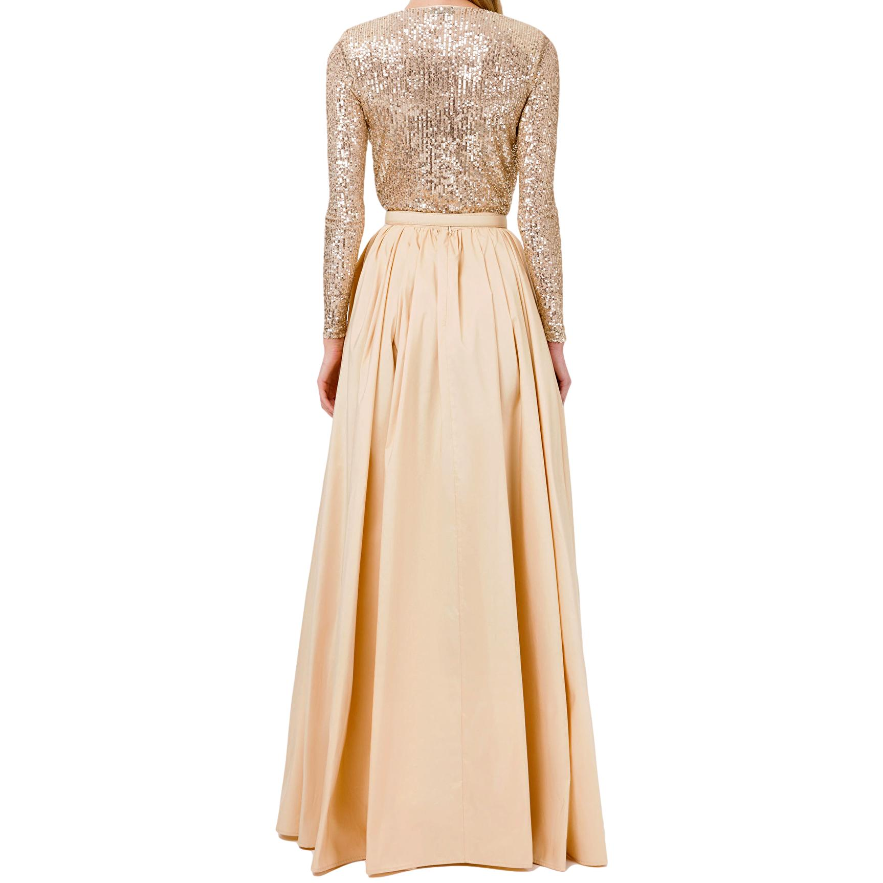 Red Carpet outfit with sequin bodysuit and taffeta skirt ELISABETTA FRANCHI |  | BG00111E2Q61