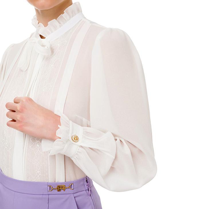 Georgette shirt and ruffles ELISABETTA FRANCHI |  | CA31211E2360